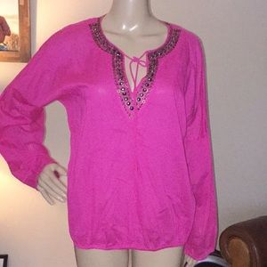 Michael Kors Beaded Blouse